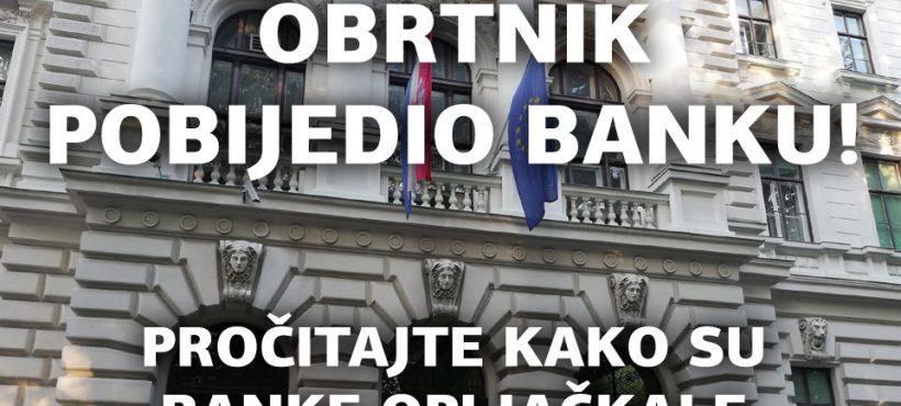 OTP BANKA MORA VRATITI OBRTNIKU NEZAKONITO NAPLAĆENE KAMATE ZA EURO KREDIT IZ 2006.GOD.