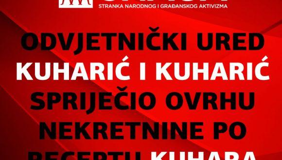ODVJETNIČKI URED KUHARIĆ I KUHARIĆ PRAVOMOĆNO ODGODIO OVRHU NEKRETNINE PO RECEPTU KUHARA SA SUDA EU!