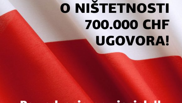 POLJSKA, 25.3.2021., ODLUKA O NIŠTETNOSTI 700.000 CHF UGOVORA!