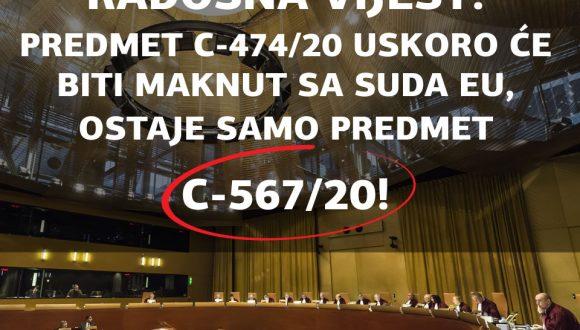 PREDMET VEZAN ZA HRVATSKE KONVERZIJE NA SUDU EU, C-474/20, OVIH DANA BIT ĆE SKINUT S DNEVNOG REDA! NA ODLUČIVANJU OSTAJE SAMO PREDMET C-567/20!